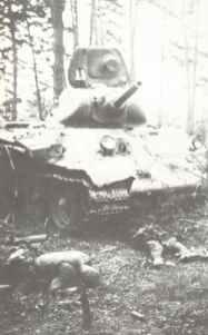 abgeschossener T-34 Modell 1940