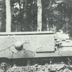 Seitenanschicht eines Schneider-Panzer.