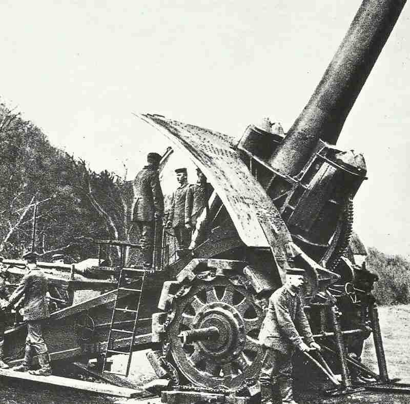 Eisenbahngeschütz dicke berta - nicanoume