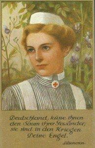 Krankenschwester-Postkarte