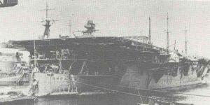 Bau eines japanischen Flugzeugträger.