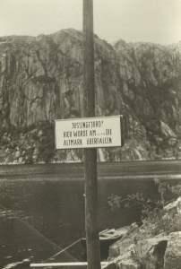 Schild 'Altmark überfallen'