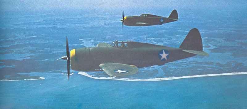 Frühe Modelle der Republic P-47 Thunderbolt