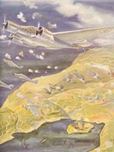 Angriffs italienischer Bomber auf Malta
