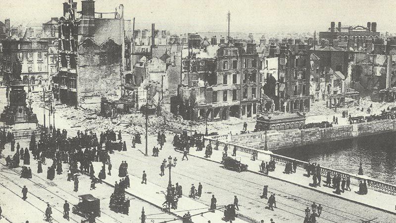zerstörtes Dublin