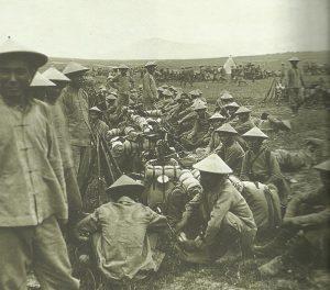 Französische Kolonialsoldaten aus Indochina