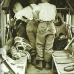 Im Inneren einer Ju 52.