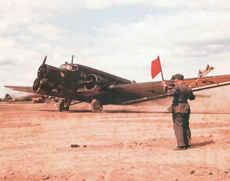 Ju 52 vor dem Abflug