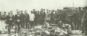 Trümmer von Max Immelmanns Flugzeug