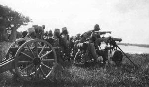 Soldaten der deutschen Schutztruppe in Ostafrika