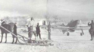 Englische Hurricane-Jäger in Nordrussland