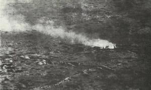 Luftaufnahme vorrückender Infanterie