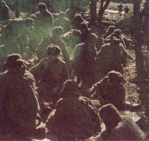 Russen in einem deutschen Kriegsgefangenlager