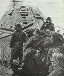 Feuerbereites Geschütz eines deutschen U-Bootes