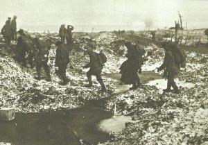 Britische Soldaten Somme Schnee