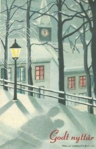 Neujahrskarte aus Norwegen