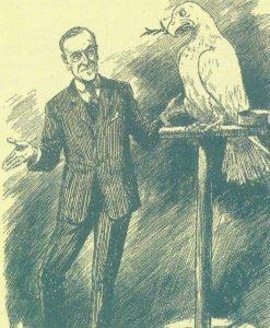 brititische Punch-Karrikatur über Präsident Wilson
