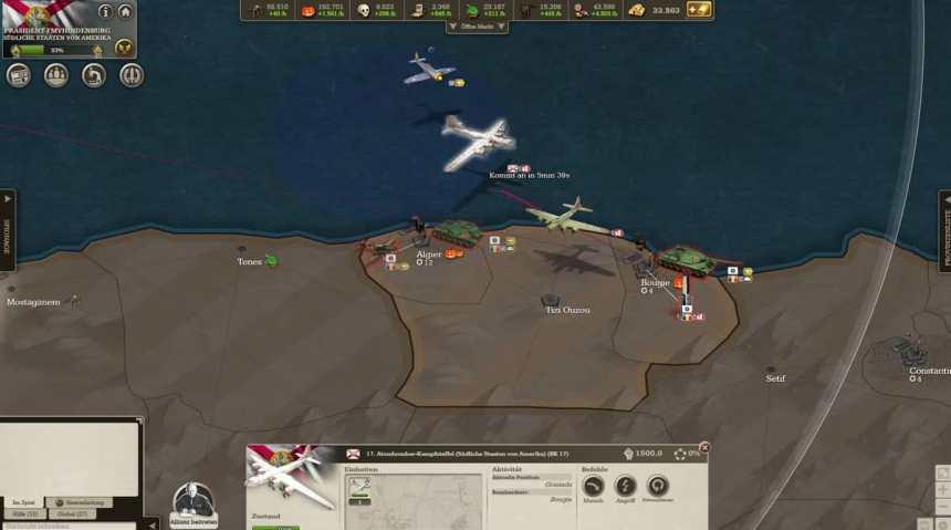 Anflug Atombomber auf Bougie