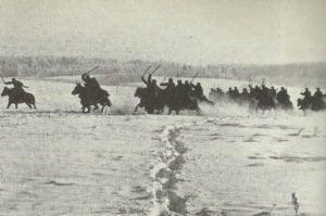Angriff russischer Kavallerie