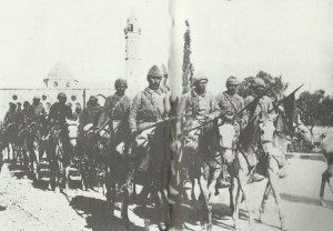 Marschkolonne türkischer Kavallerie