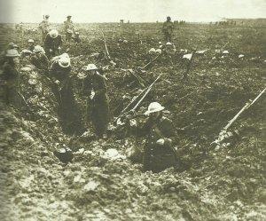 Kanadische Soldaten Vimy-Höhe