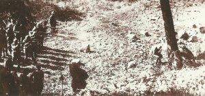 Exekution eines französischen Soldaten