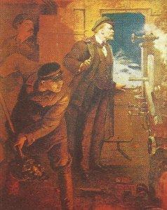 Lenin auf dem Weg nach Petrograd