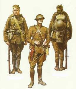 US-Infanterie im 1. Weltkrieg