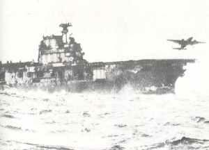 B-25 Mitchell startet vom Flugzeugträger Hornet