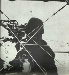 Pilot und Heckschütze einer  Sopwith 1 1/2-Strutter