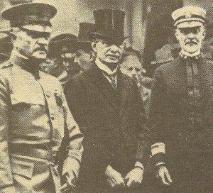 General Pershing und Admiral Sims