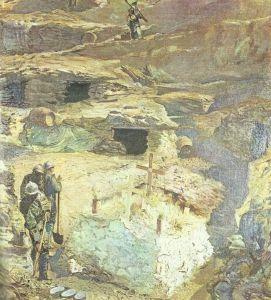 italienischer Graben auf dem Kars
