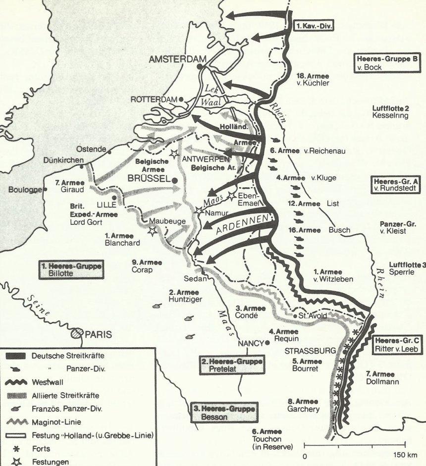 Karte Westfeldzug
