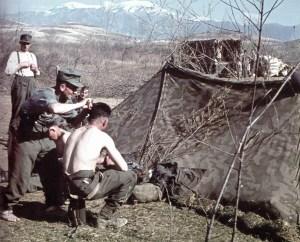 Lager deutscher Kavallerie