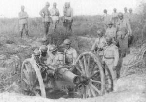 Rumänische Artilleristen
