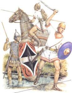 Iberische Soldaten Hannibals