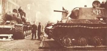 KW-1-Produktion in Leningrad