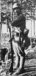 Österreichisch-ungarischer Soldat auf Wachtposten