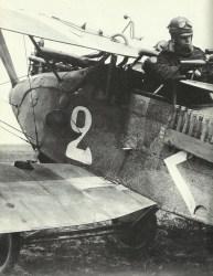 Heckschütze eines Halberstadt CLII-Bodenangriffsflugzeug