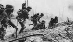 Deutsche Sturmtruppen in Stalingrad.