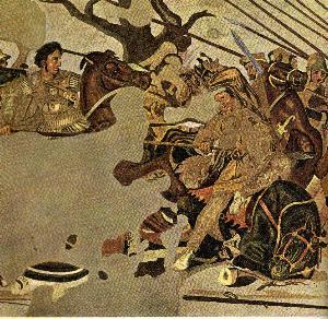 griechische Reiterei im Kampf
