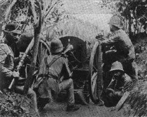 Portugiesosche Maschinengewehr-Stellung