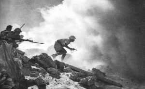 Angriff australischer Infanterie El Alamein