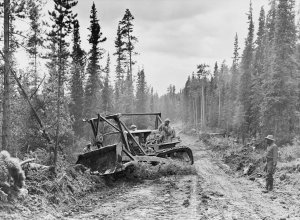 Bau des 'Alaska-Highway'