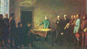 König Viktor Emmanuel III. trifft die Alliierten