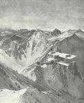 Alabtros-Jäger über Alpen