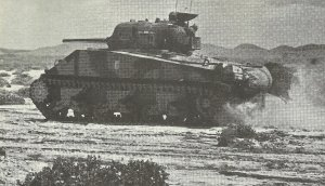 britischer Sherman-Panzer in Tunesien