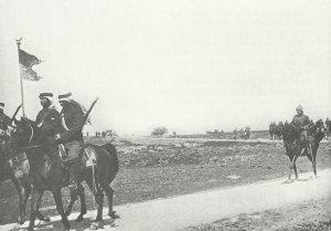 Türkische Kavallerie auf dem Rückzug