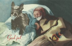 Weihnachtskarte 'God jul'