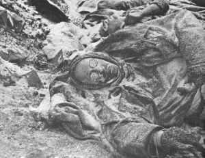 Tote deutsche Soldaten in Stalingrad
